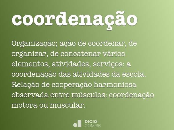 coordena��o