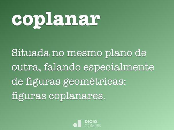 coplanar