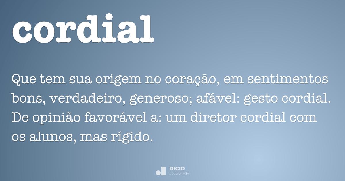 Cordial Dicio Dicionário Online De Português