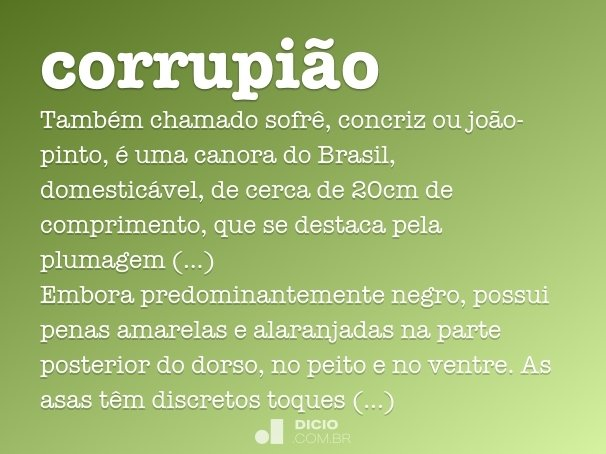 corrupi�o