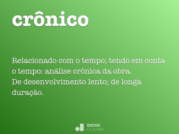 crônico