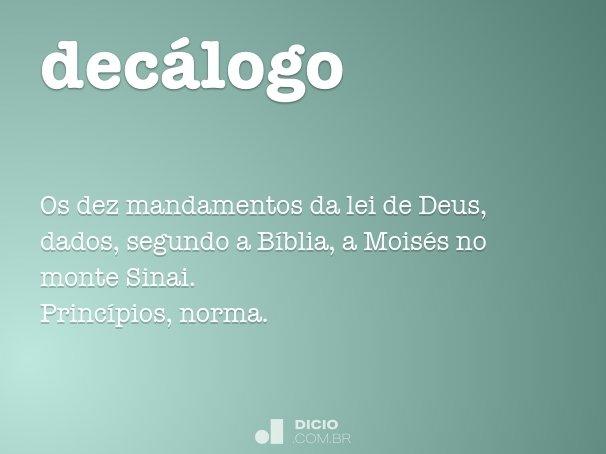 decálogo