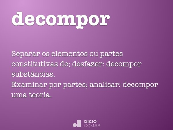 decompor