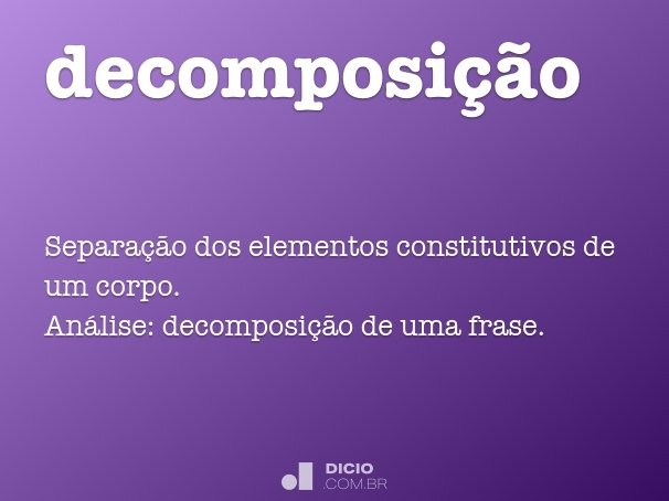 decomposi��o