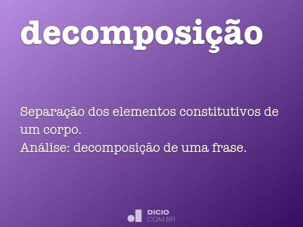 decomposição
