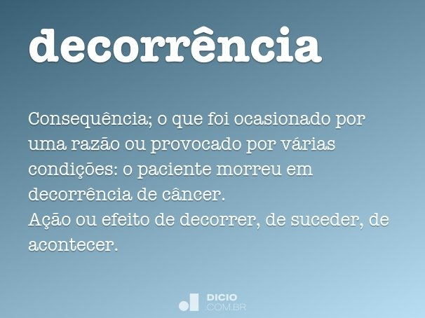 decorr�ncia
