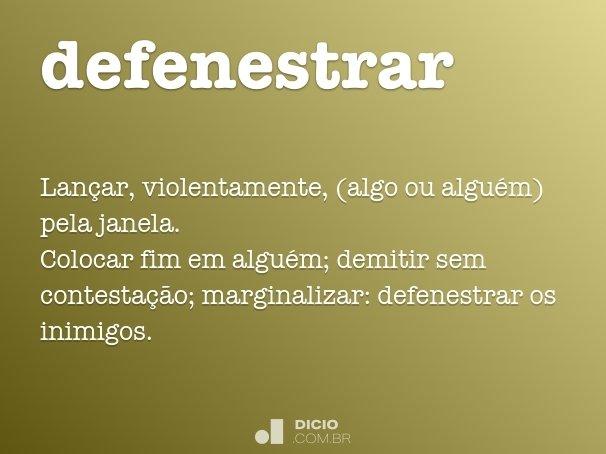 defenestrar