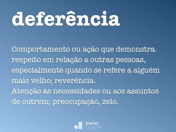 defer�ncia