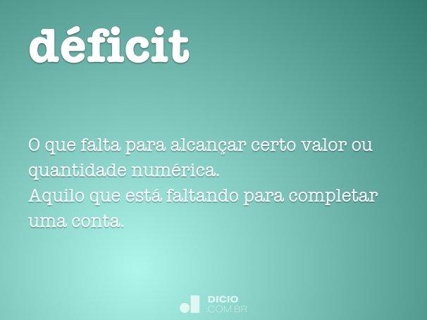 d�ficit