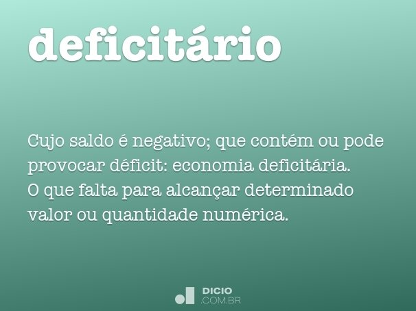 deficit�rio