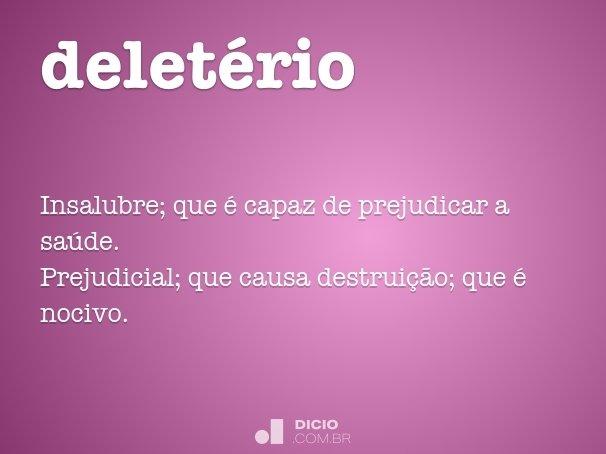 delet�rio