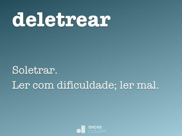 deletrear