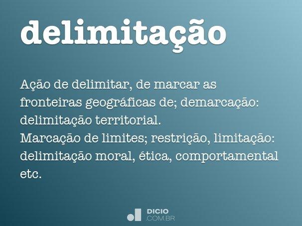 delimitação