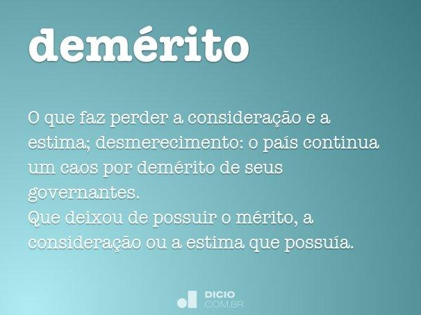 demérito
