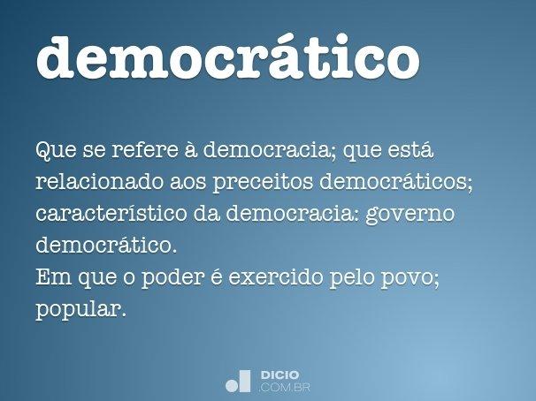 democr�tico