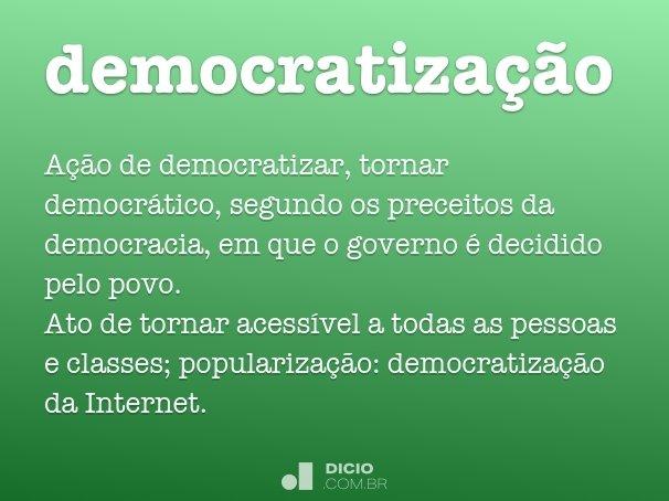 democratiza��o