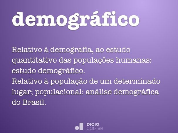 demogr�fico