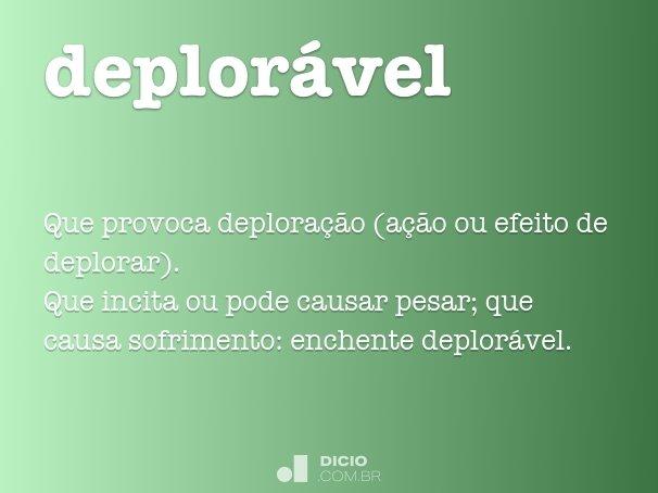 deplor�vel
