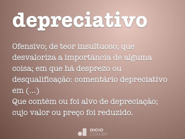 depreciativo