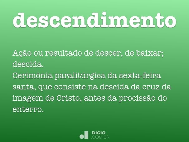 descendimento