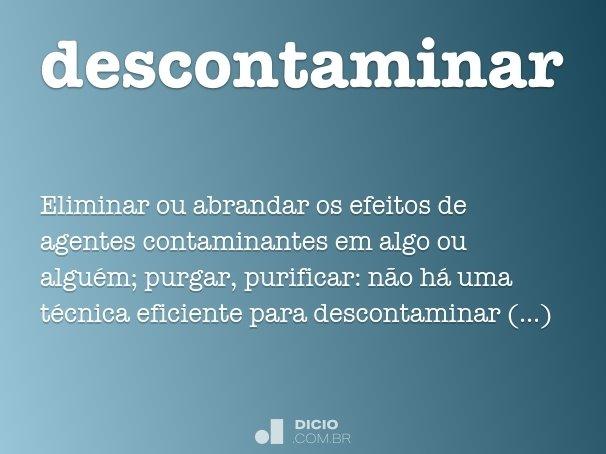 descontaminar