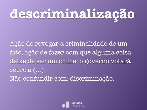 descriminalização