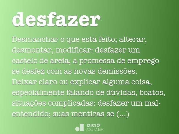 desfazer