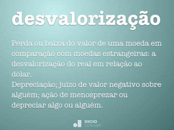 desvalorização