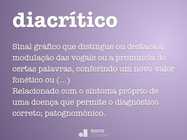 diacr�tico