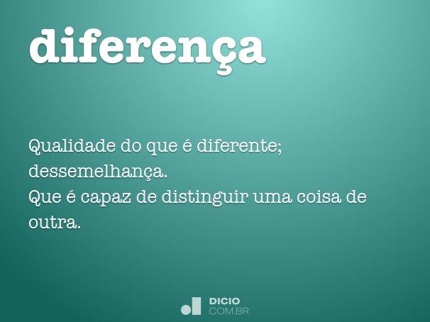 diferen�a