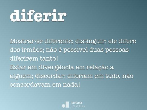 diferir