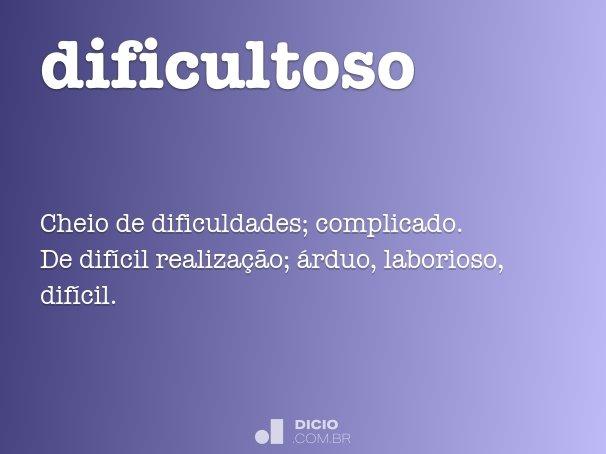 dificultoso