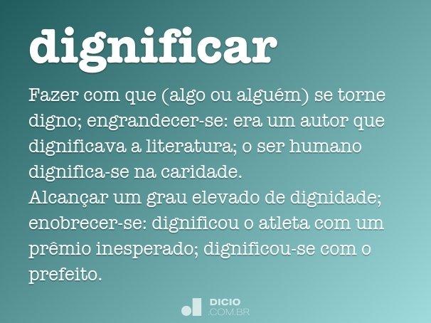 dignificar