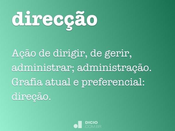direcção