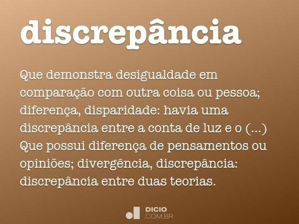 discrep�ncia