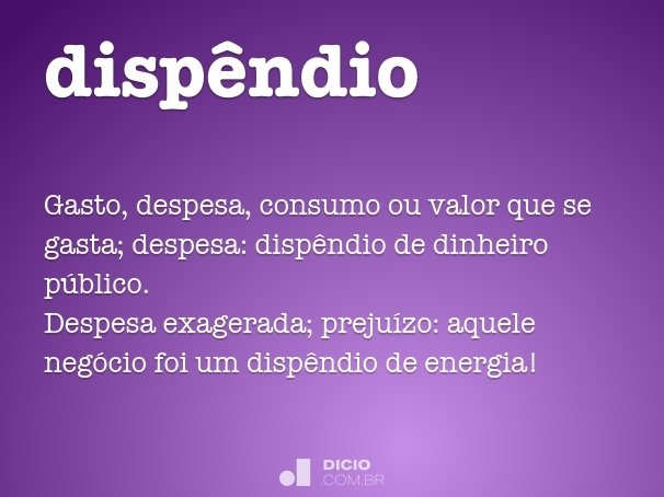 dispêndio
