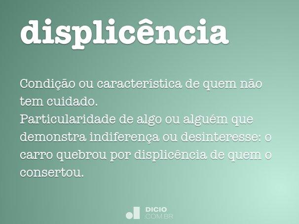 displic�ncia
