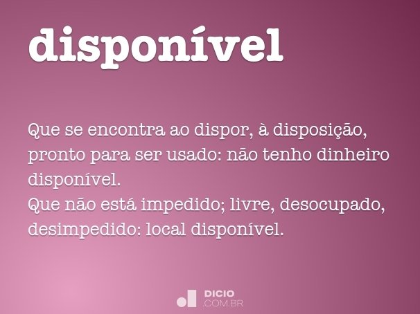 dispon�vel
