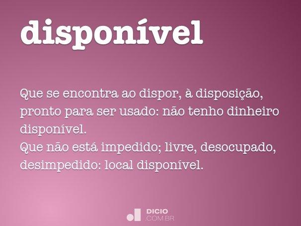 dispon�vel