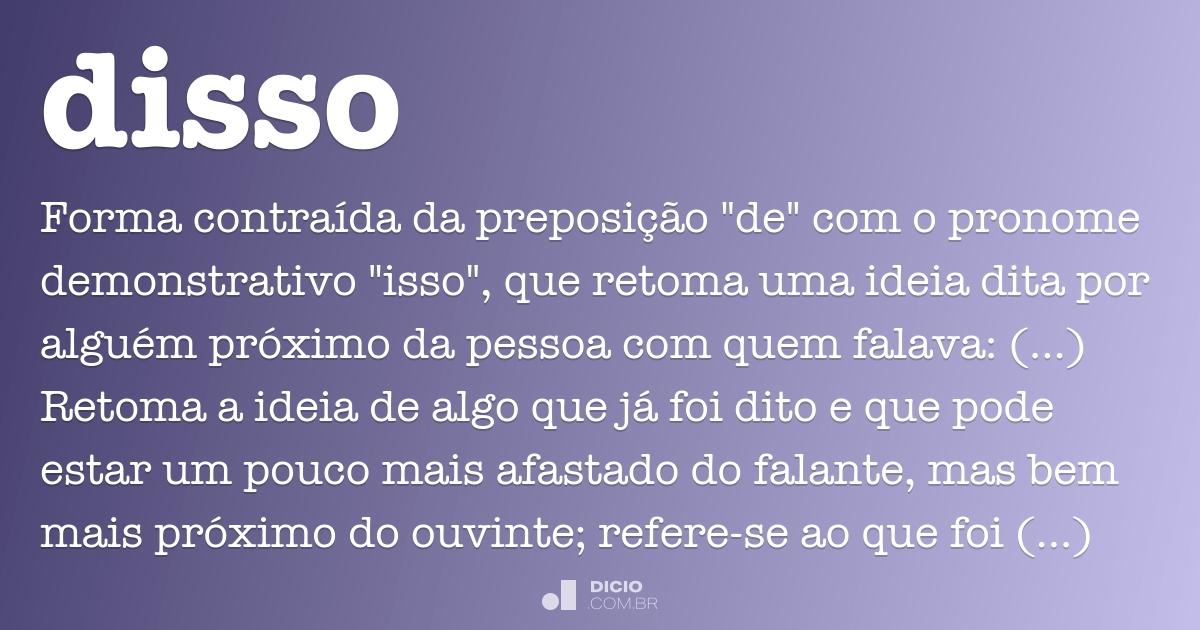 Não é Só Isso Que Eu Gostaria De Te Dizer Não é O: Dicio, Dicionário Online De Português