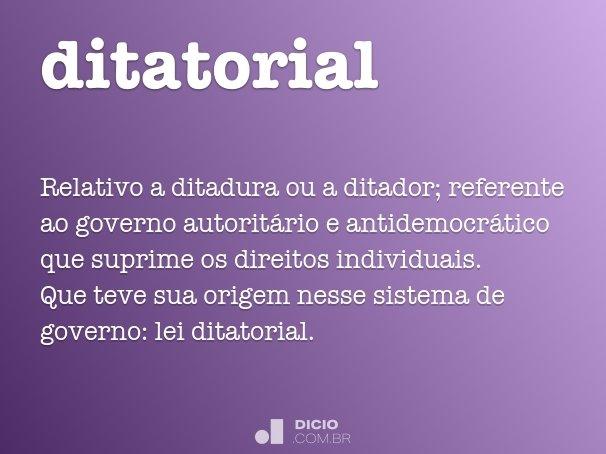 ditatorial