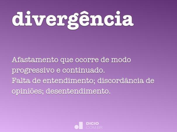 diverg�ncia