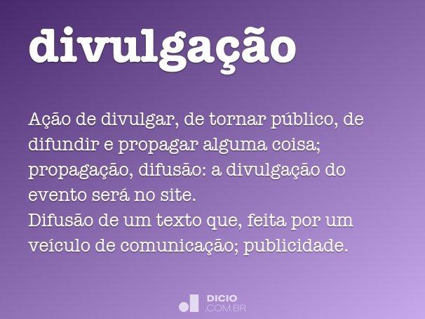divulga��o