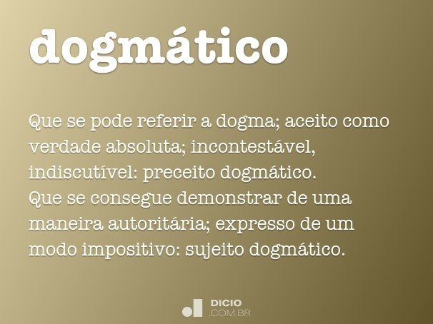 dogm�tico
