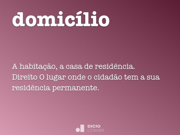 domic�lio