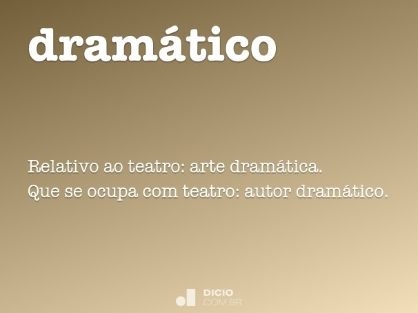 dramático