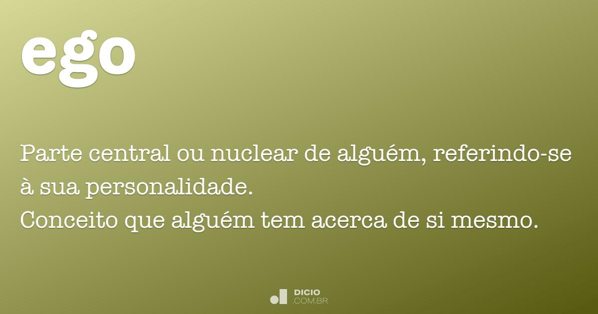 Ego Dicio Dicionário Online De Português
