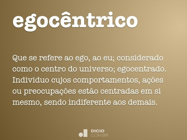 egoc�ntrico