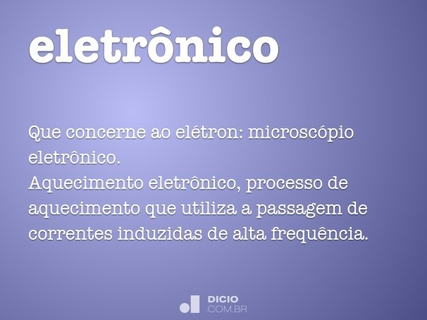 eletr�nico