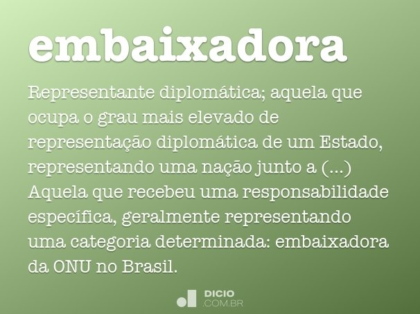 embaixadora